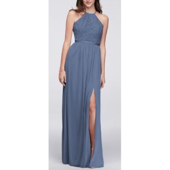 00cda114357 David s Bridal Dresses   Skirts - David s Bridal Steel Blue Bridesmaid Dress  ...